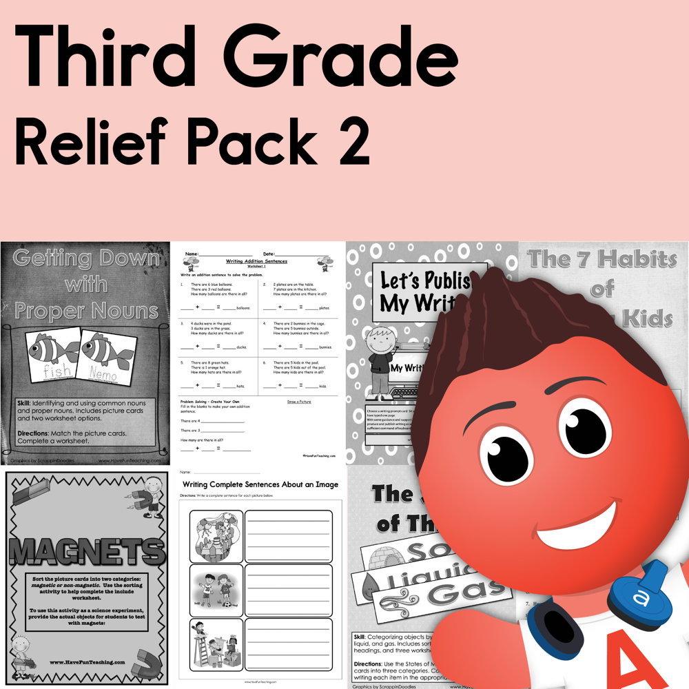 medium resolution of Third Grade Coronavirus Relief Pack 2 • Have Fun Teaching