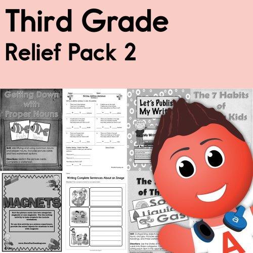 small resolution of Third Grade Coronavirus Relief Pack 2 • Have Fun Teaching