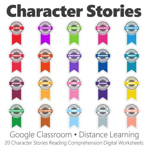 small resolution of Character Stories Reading Comprehension Digital Worksheet Collection • Have  Fun Teaching