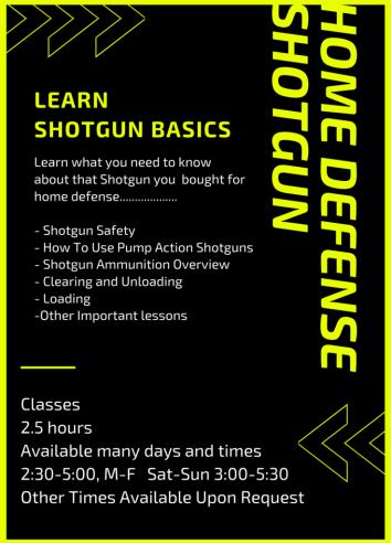 home defense shotgun mini-course