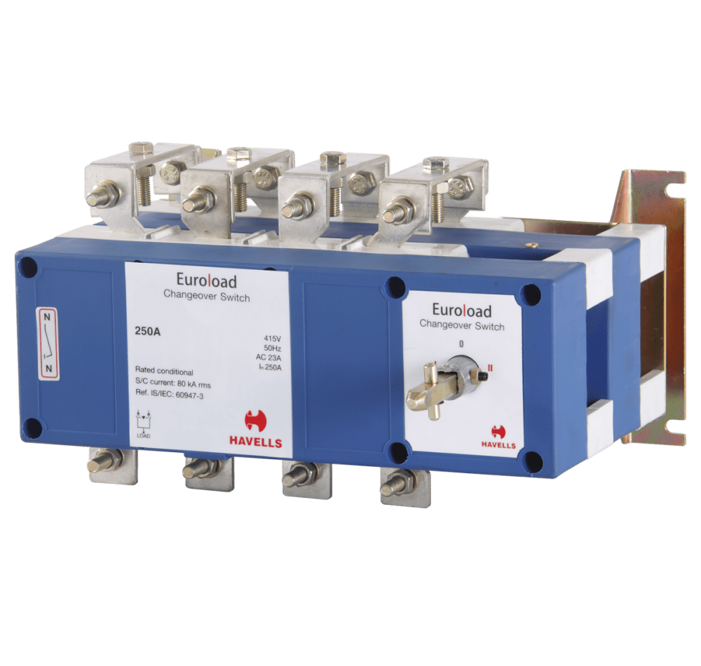 medium resolution of euroload changeover switch size 1 four pole