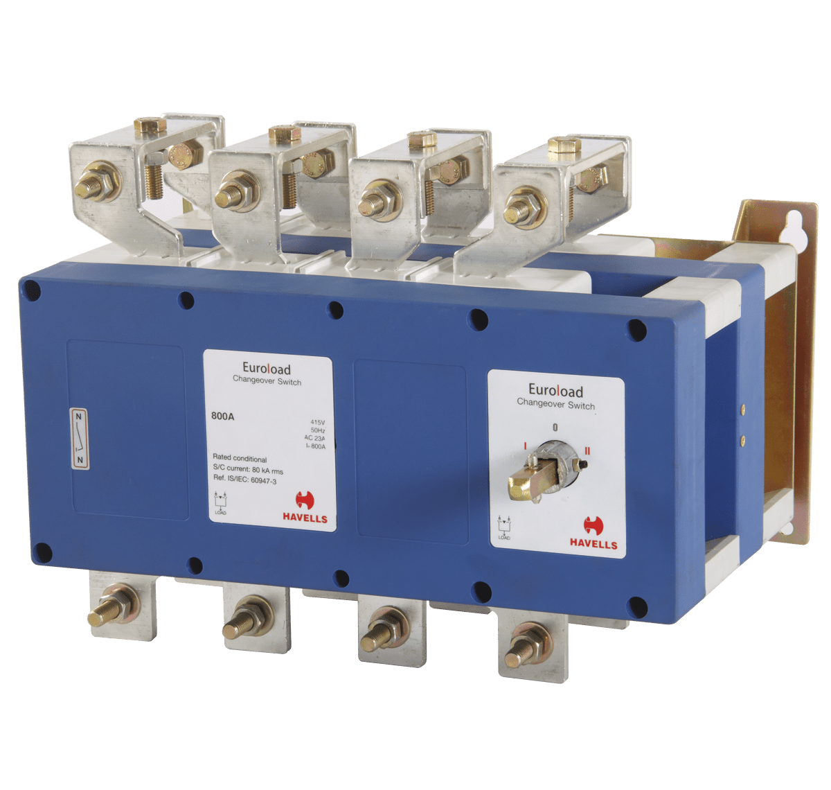 hight resolution of euroload changeover switch size 3 four pole ss enclosure