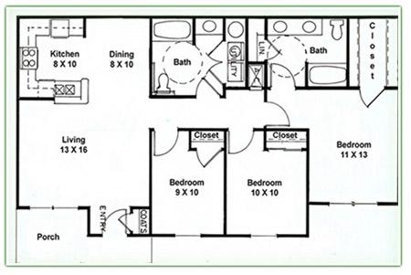 3 Bedroom 2 Bath Apartments Functionalities Net