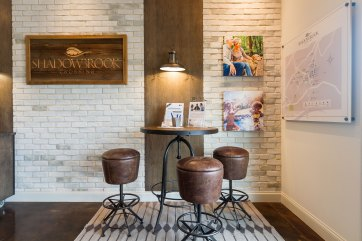 Haven-Design-Works-Atlanta-Front-Door-Shadowbrook-Crossing-Sales-Center-brick-wall