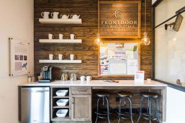 Haven-Design-Works-Atlanta-Front-Door-Shadowbrook-Crossing-Sales-Center-coffee-bar