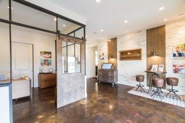 Haven-Design-Works-Atlanta-Front-Door-Shadowbrook-Crossing-Sales-Center-glass-partition