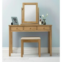 Atlanta Oak Dressing Table | The Haven Home Interiors