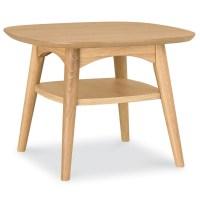 Oslo Oak Lamp Table with Shelf