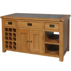 Granite Top Kitchen Island Table Combination Harvard Oak With The Haven