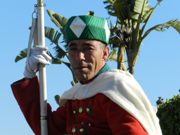 Royal guard at Mausoleum of Mohammed, Morocco.