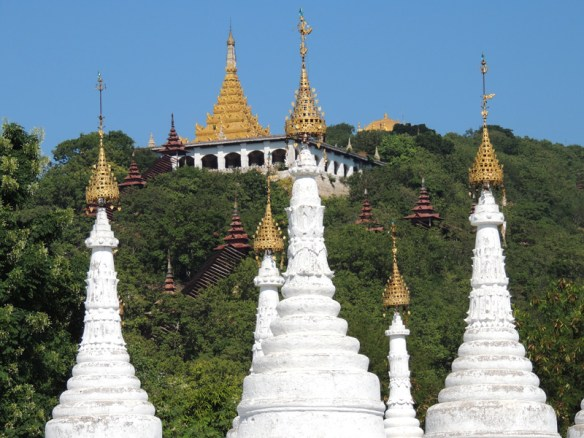 The countryside in Myanmar has thousands of pagodas and stupas.