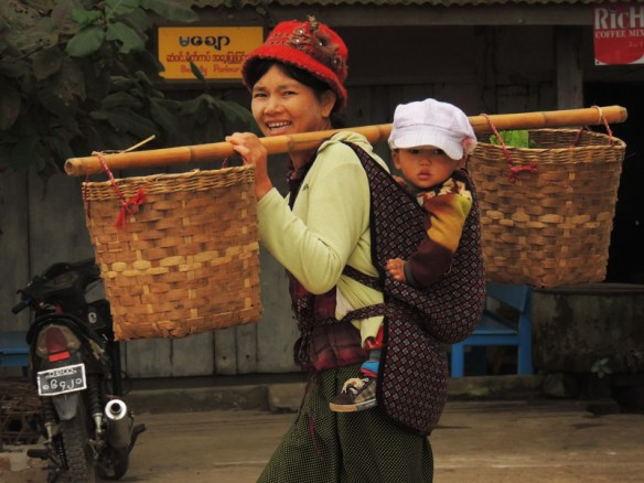 Woman and child in Hsipaw, northern Myanmar.