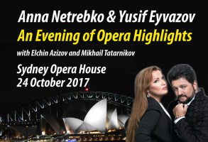 Poster for 'An Evening of Opera Highlights', the Anna Netrebko concert at the Sydney Opera House, 24 October 2017.