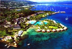 Aerial view of the Tahiti Intercontinental Hotel. Photo: Tahiti Intercontinental Hotel