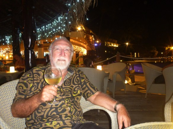 The Tiki bar is situated to one side of Te Tiare restaurant at the Tahiti Intercontinental Hotel.
