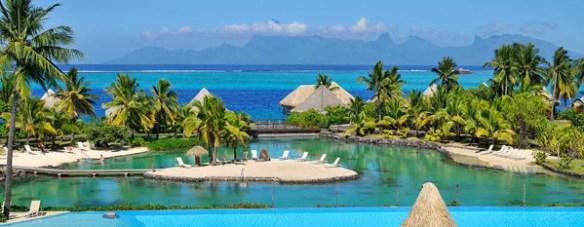 The Lagoonarium with its small motu (islet). Photo: Tahiti Intercontinental Hotel.