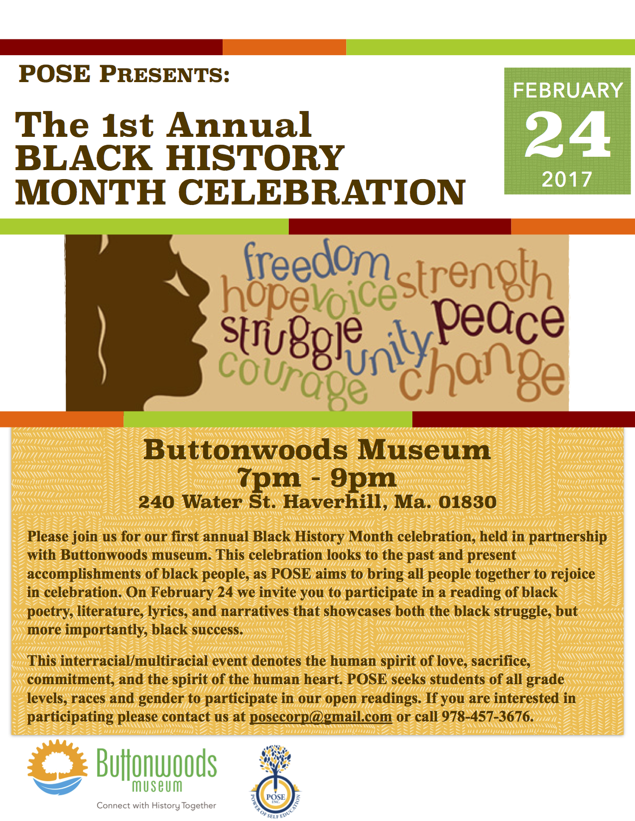 1st Annual Black History Month Celebration At Buttonwoods