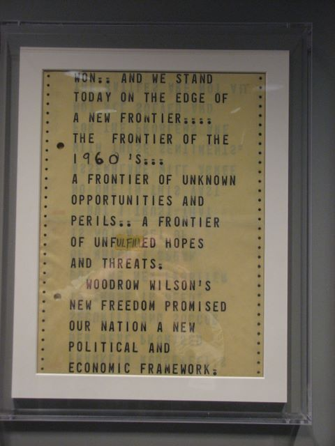 Teleprompter script used by President Kennedy; JFK Library collection, image by thewastesmile