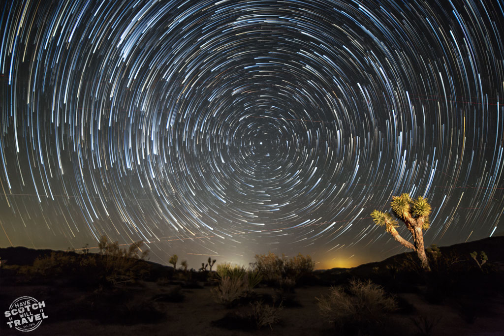 star trail photography, joshua tree, california, us travel, landscape photography, travel photography tips, travel prints, star trails,