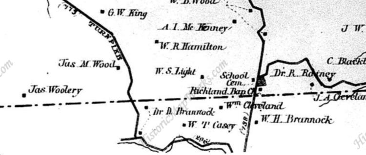 Pendleton County side of Havilandsville