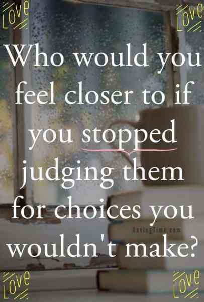 stop judging people