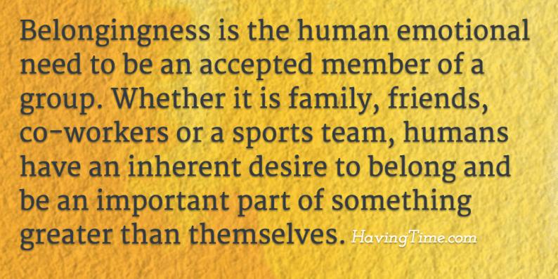 belongingness definition