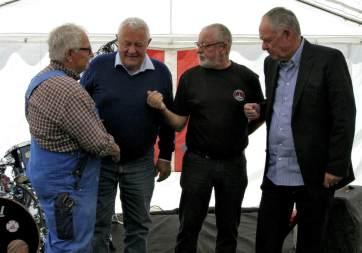Erik Ibsen, Nicolai Sneum, Finn Svendsen og Poul Erik Serup var med til at stifte Hornbæk Havneforening i 1976