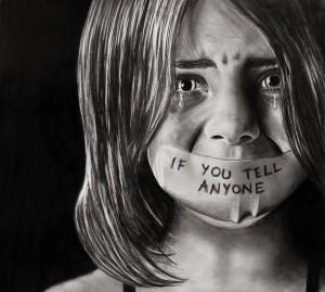 Adult abused child