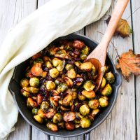 Chestnut Cranberry Roasted Brussels Sprouts