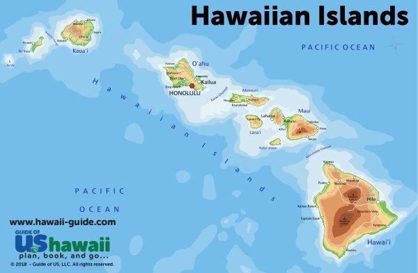 Maps of Hawaii Hawaiian Islands Map