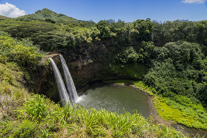 Rainbow Falls Hawaii Wallpaper Wailua Falls Kauai
