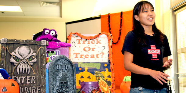 Homeless Children Get Halloween Treat From Medical Students