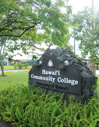 Hawaii Community College sign
