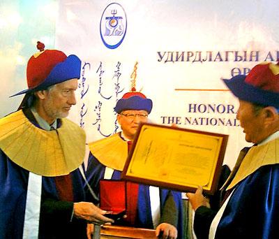 Pratt accepting award