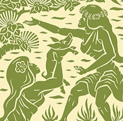 Dietrich Varez print (photo from the University of Hawaii at Hilo's Performing Arts Center website)