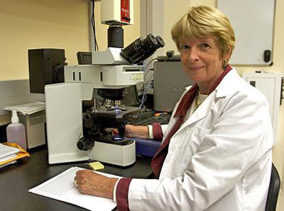 Bryant-Greenwood in her lab
