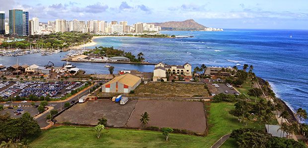 The proposed site for the Obama library in Kakaʻako