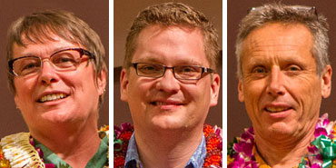 3 headshot of the 2014 recipients of the Regentsʻ Medal for Excellence in Research