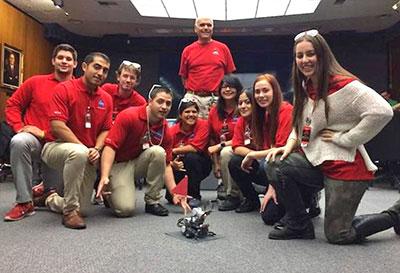 Hoapili with her NASA teammates