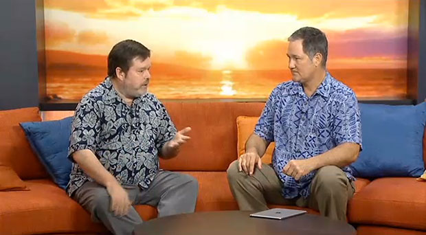 UHERO Executive Director and Professor of Economics Carl Bonham appears on Hawaiʻi News Now Sunrise with Howard Dicus to discuss UHERO's latest state forecast update, February 27, 2015 (Watch the video)