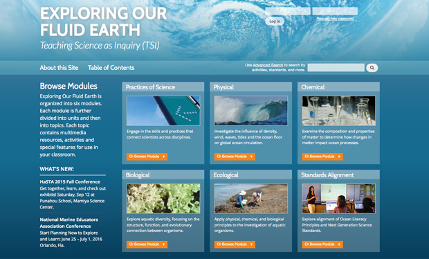 exploring our fluid earth website