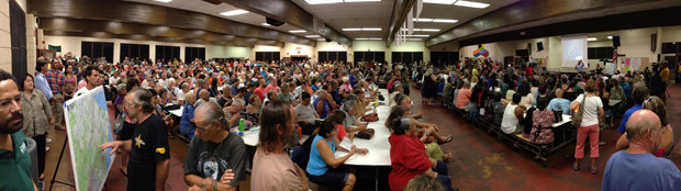 Crowded public meeting held in Pahoa