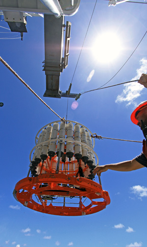 Long term sampling at Station ALOHA has led to many discoveries (photo credit: Mar Nieto-Cid)