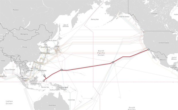 The SEA-US cable system. Image credit: PriMetrica, Inc.