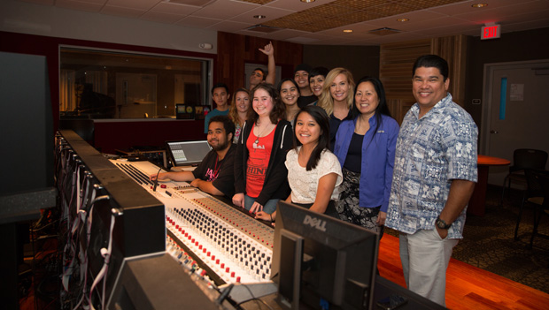 Skyla and students and faculty of Honolulu CC's MELE program