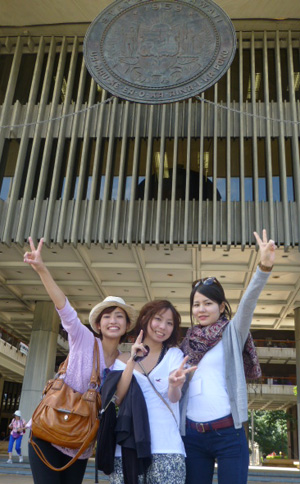 Japanese law students during their 2015 visit to the state capitol.
