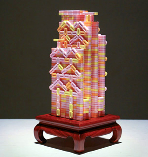 PEZ sculpture by Percy Lam