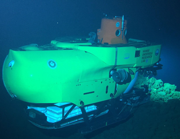 submersible under water