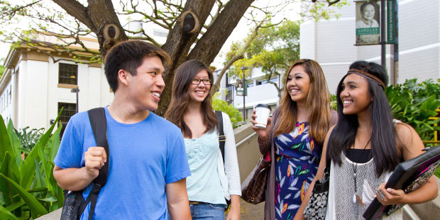 Students at U H Manoa
