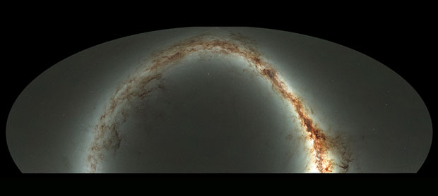 Compressed view of the entire visible sky